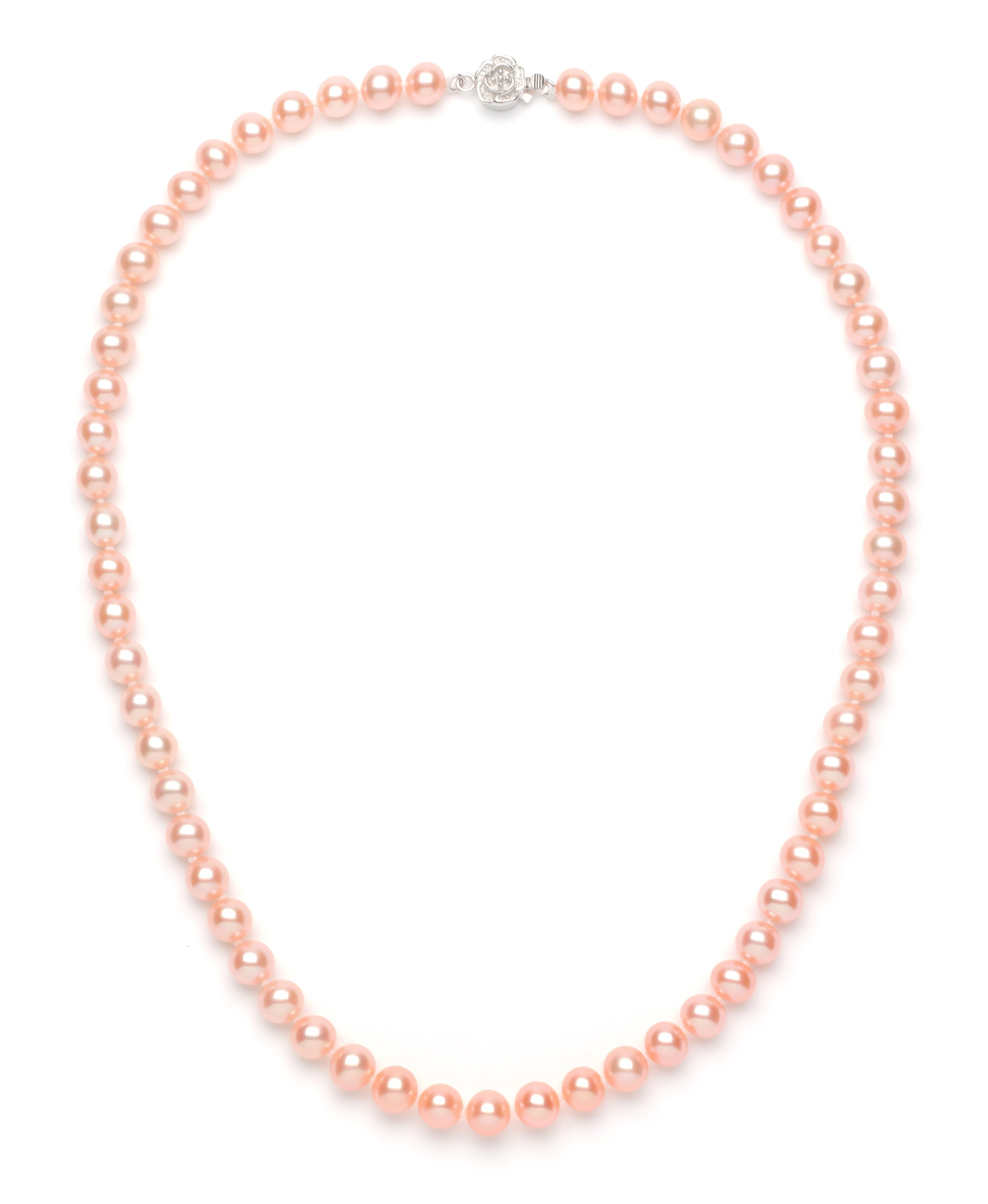 7.0-8.0 mm Pink Freshwater Pearl Necklace