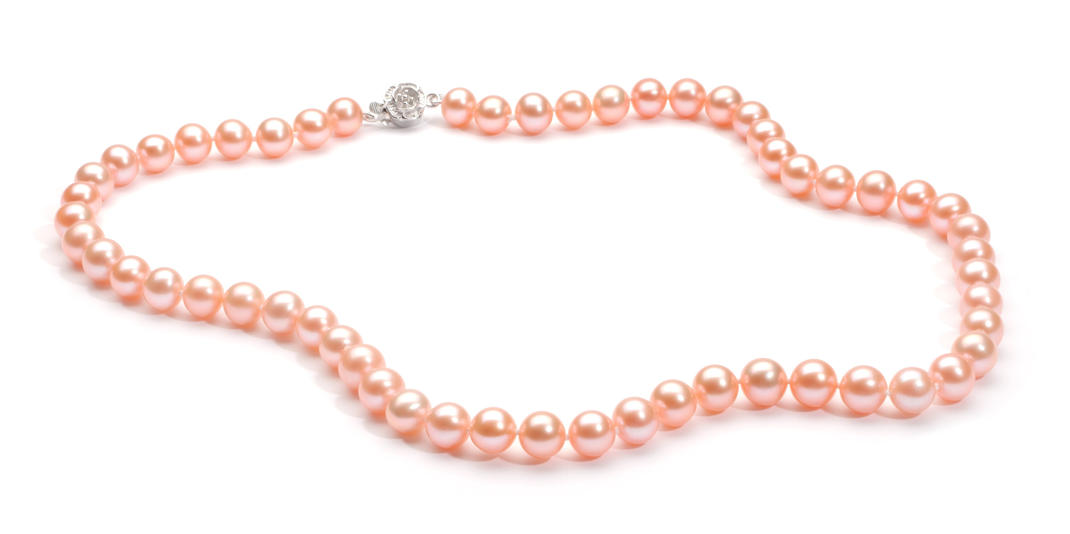8.0-9.0 mm Pink Freshwater Pearl Necklace