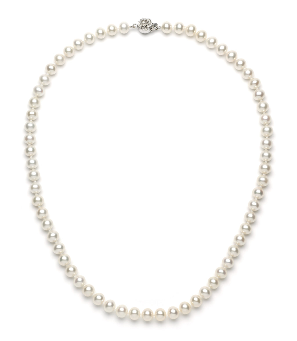 6.0-7.0 mm White Freshwater Pearl Necklace