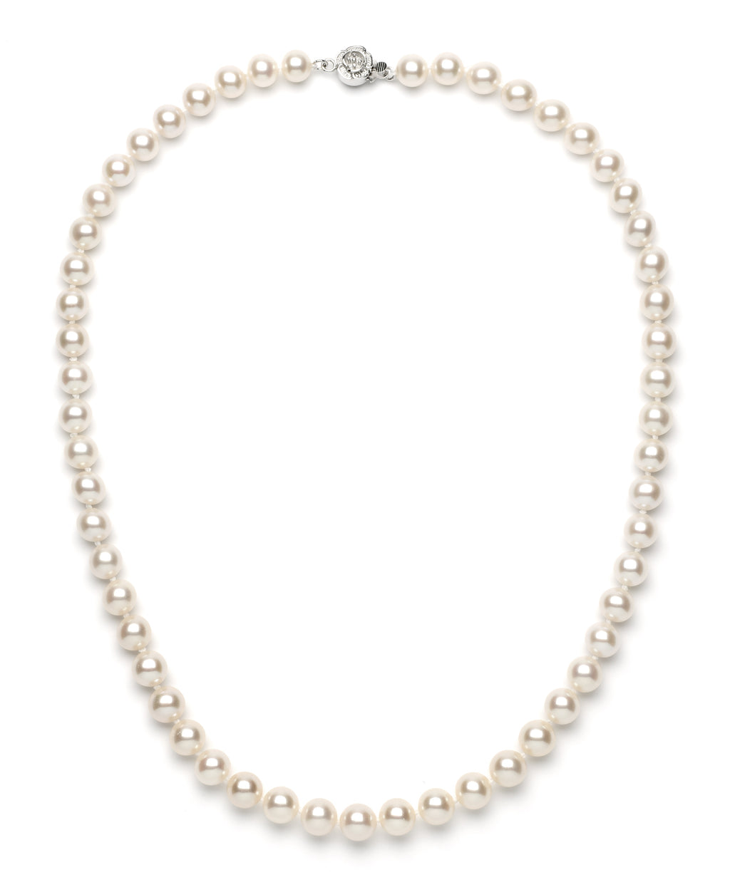 8.0-9.0 mm White Freshwater Pearl Necklace