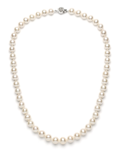 LPM2009 Angelic  Red and White Freshwaters Pearls Lanyard