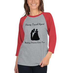 Disney Travel Agent - 3/4 sleeve raglan shirt