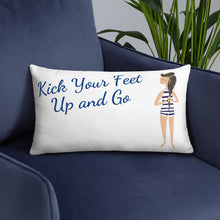 Load image into Gallery viewer, Kick up your feet & go! Pillow Case w/ stuffing