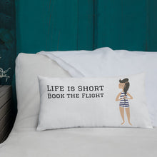 Load image into Gallery viewer, Life is  Short - Premium Pillow