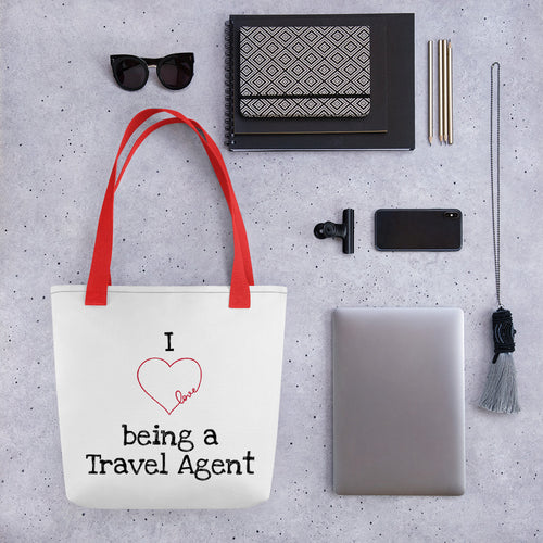 I Heart Being a Travel Agent Tote