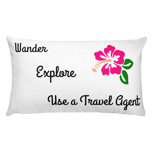Use a Travel Agent Pillow Case w/ stuffing