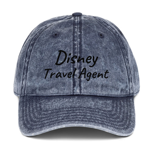 Disney Travel Agent - Vintage Cotton Twill Cap