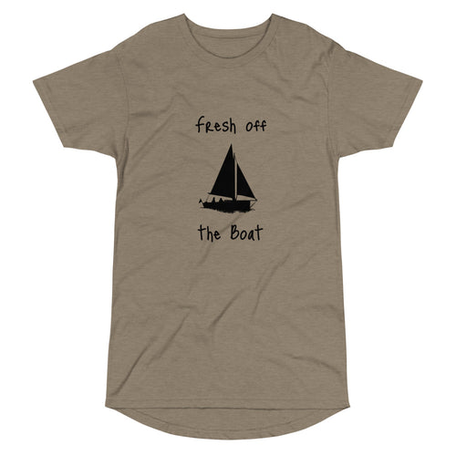 Fresh off the Sail Boat - Long Body Urban Tee
