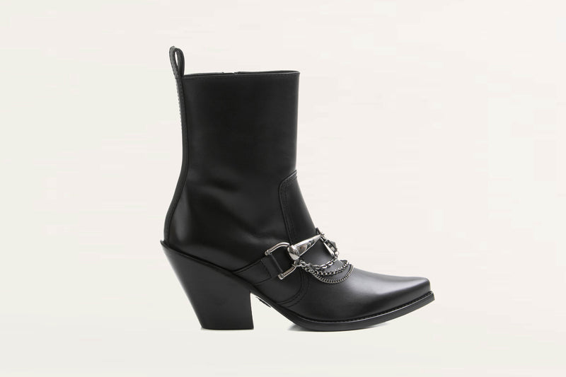 ankle boot with chain