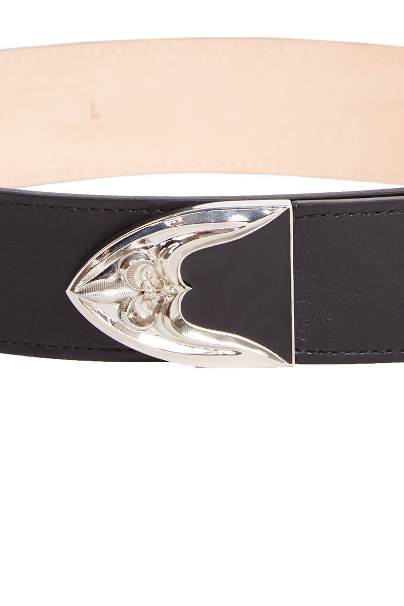 leather western-style belt