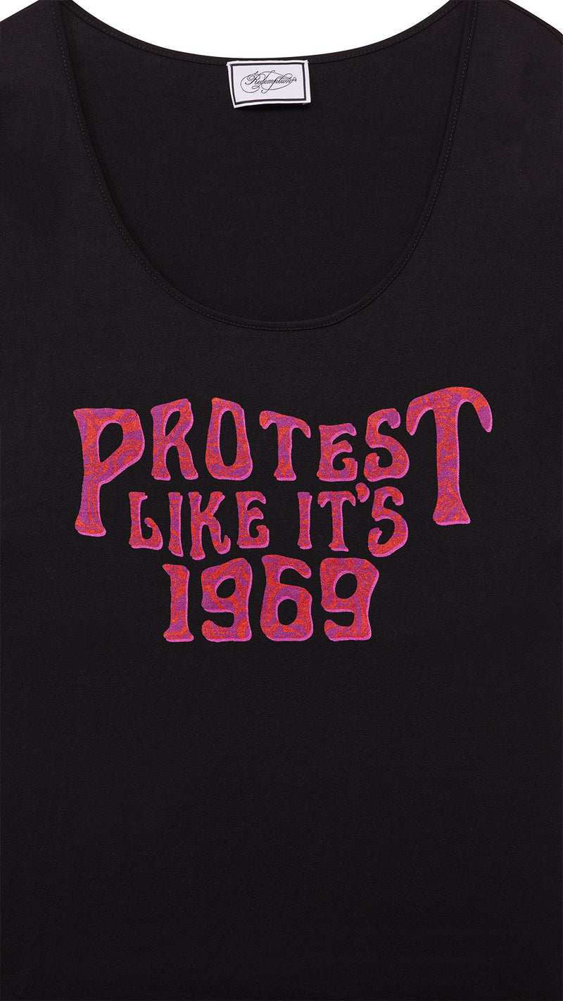 protest print cotton t-shirt