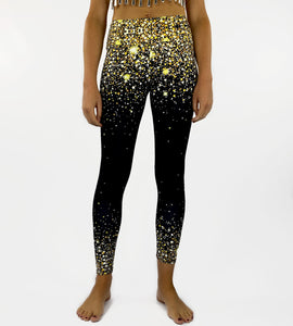 Gold Stars Unisex Leggings