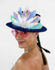 Claudés Pastel Brim Hat- Festival Fashion and Accessories Peach Pops