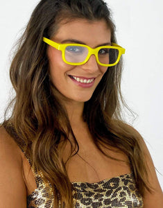 Diffraction glasses in yellow smiley- Festival Fashion and Accessories Peach Pops