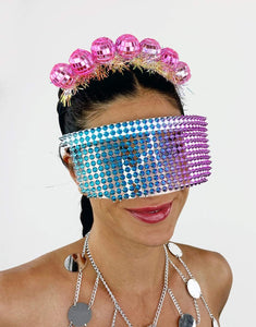Disco Inferno Headband in Pink- Festival Fashion and Accessories Peach Pops