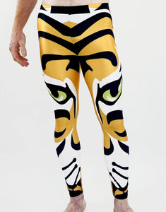 Eye of the Tiger Unisex Leggings- Festival Fashion and Accessories Peach Pops