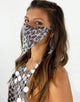 Face Veil in Silver Jaguar- Festival Fashion and Accessories Peach Pops