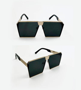 Hip To Be Square Glasses in Black- Festival Fashion and Accessories Peach Pops