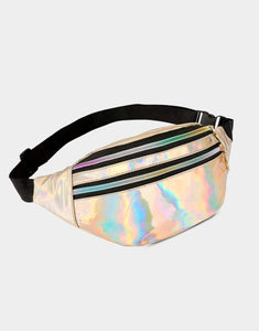 Holo Bumbag Gold- Festival Fashion and Accessories Peach Pops