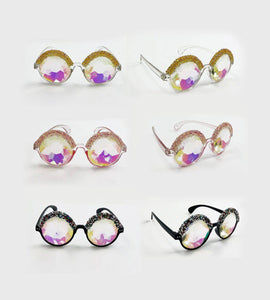 Kaleidoscope Glasses- Festival Fashion and Accessories Peach Pops