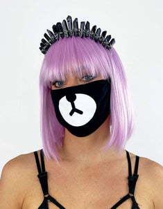 Soft Dust Mask Bear- Festival Fashion and Accessories Peach Pops