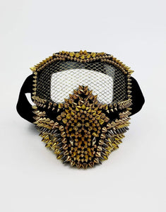 Spine & Spark Transformer Mask- Festival Fashion and Accessories Peach Pops