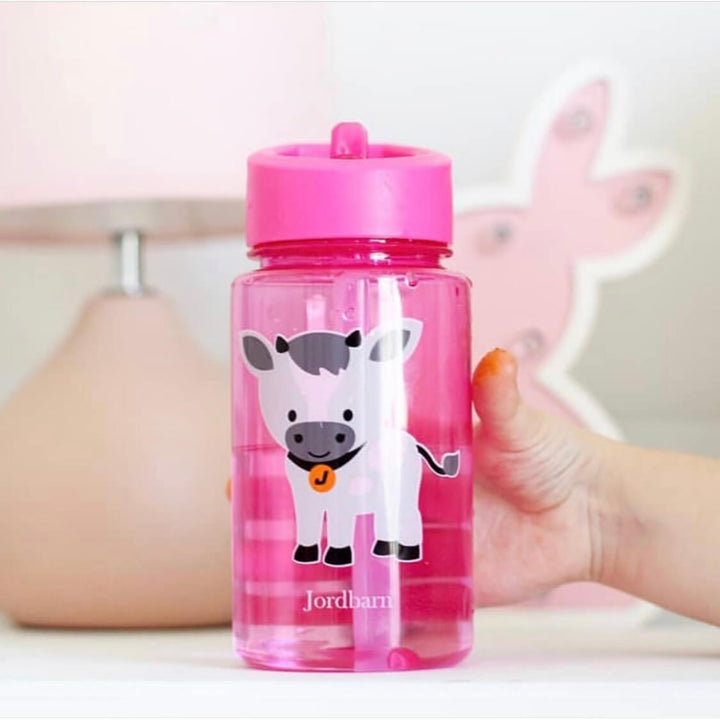 pink kids water bottle