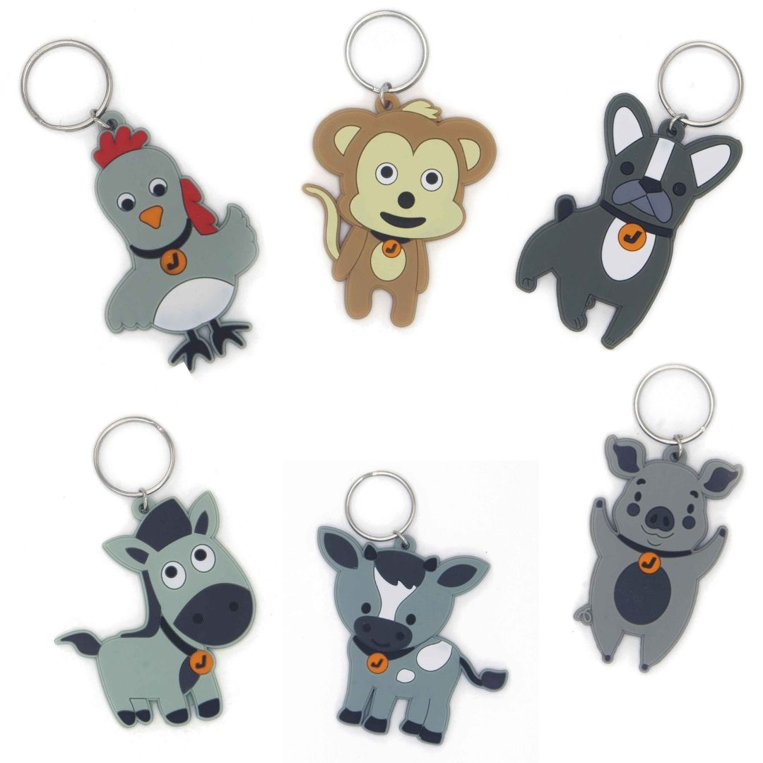 Jordbarn Key Rings | Bag Tags for kinder and childcare