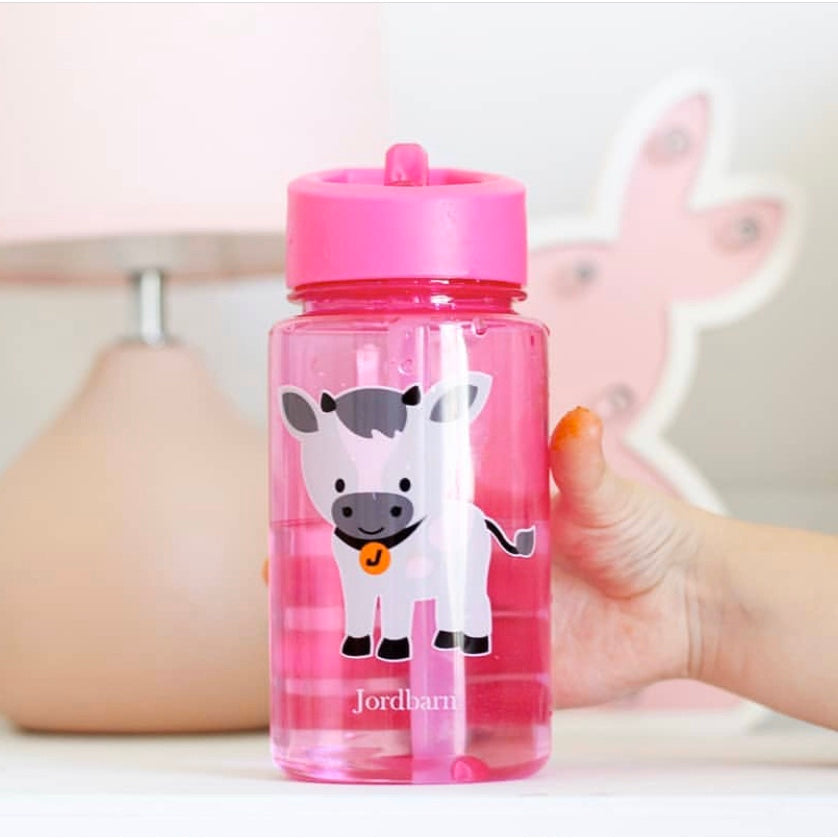 Jordbarn Water Bottles in Pink and Blue