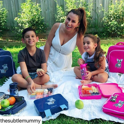 Zoe George picnic with her kids