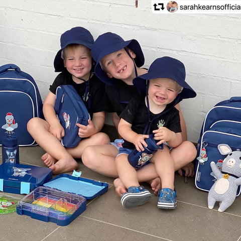 Sarah Kearns happy kids with their Jordbarn essentials