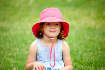 Kids bucket hat - upf 50+ - medium - magenta - Jordbarn