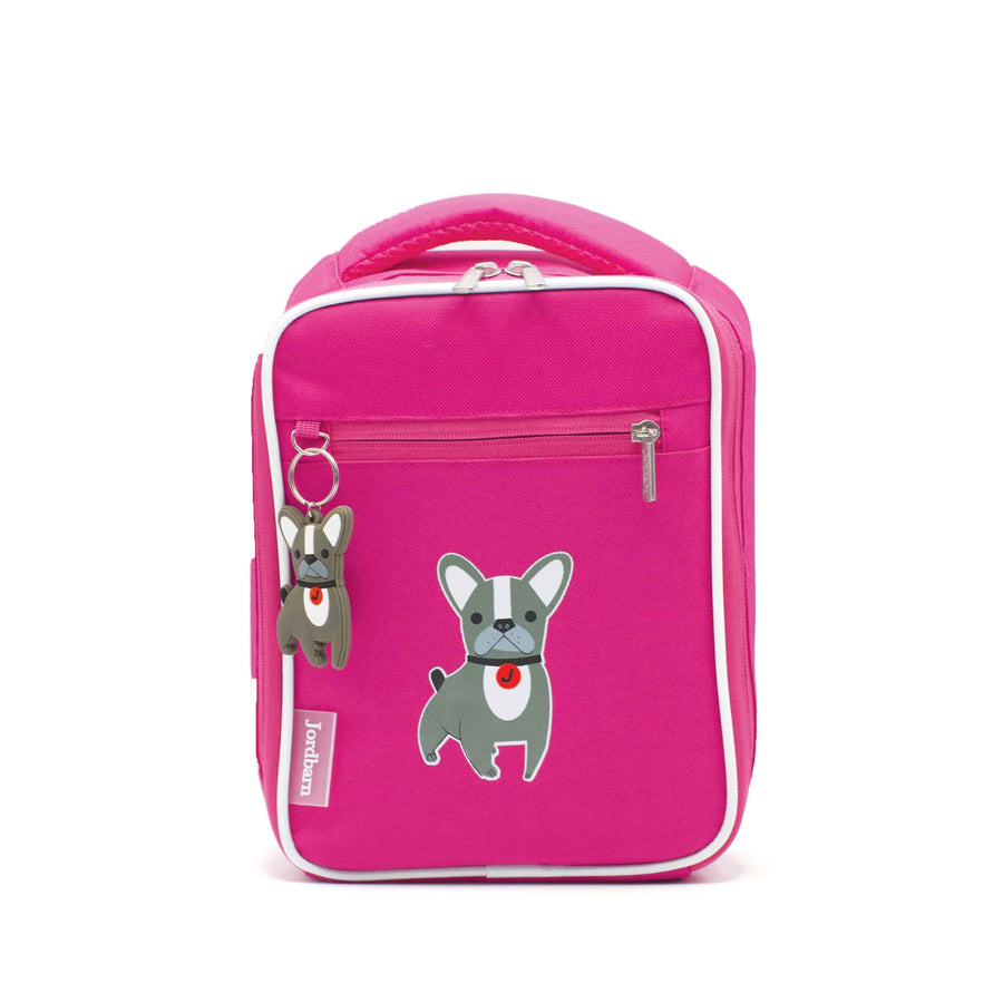 Bento cooler bag - dog - magenta - Jordbarn