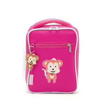Bento cooler bag - monkey - magenta - Jordbarn