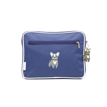 Pencil case | ipad case - dog - indigo - Jordbarn