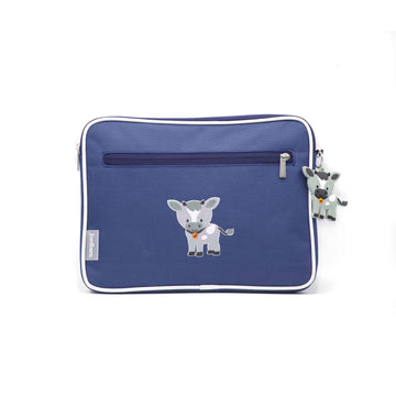 Pencil case | ipad case - goat - indigo - Jordbarn