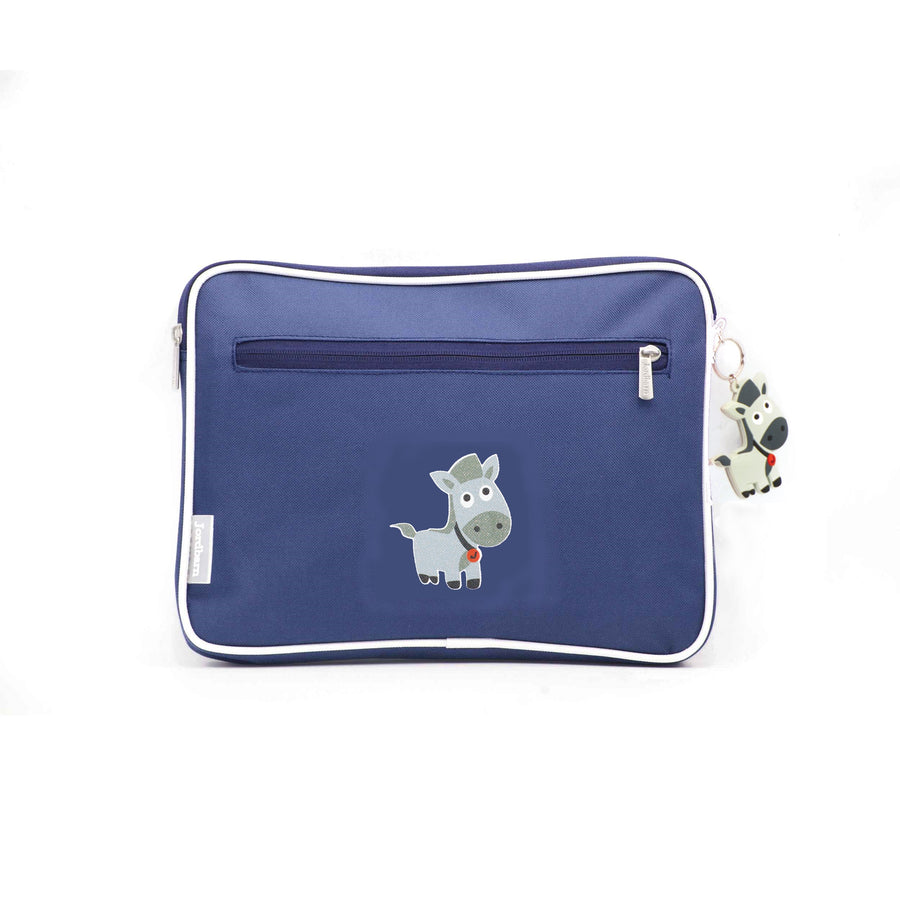 Pencil case | ipad case - horse - indigo - Jordbarn