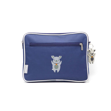 Pencil case | ipad case - pig - indigo - Jordbarn
