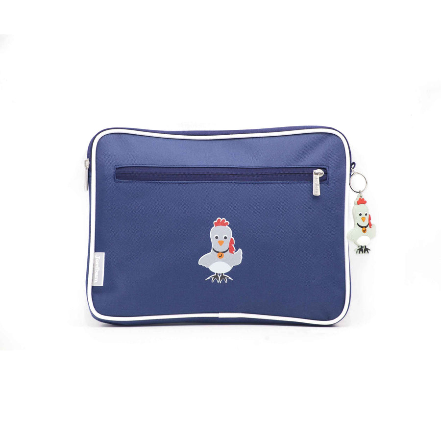Pencil case | ipad case - rooster - indigo - Jordbarn
