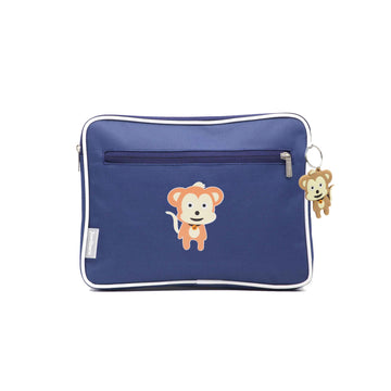 Pencil case | ipad case - monkey - indigo - Jordbarn