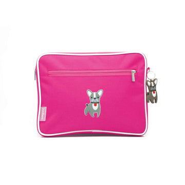 Pencil case | ipad case - dog - magenta - Jordbarn