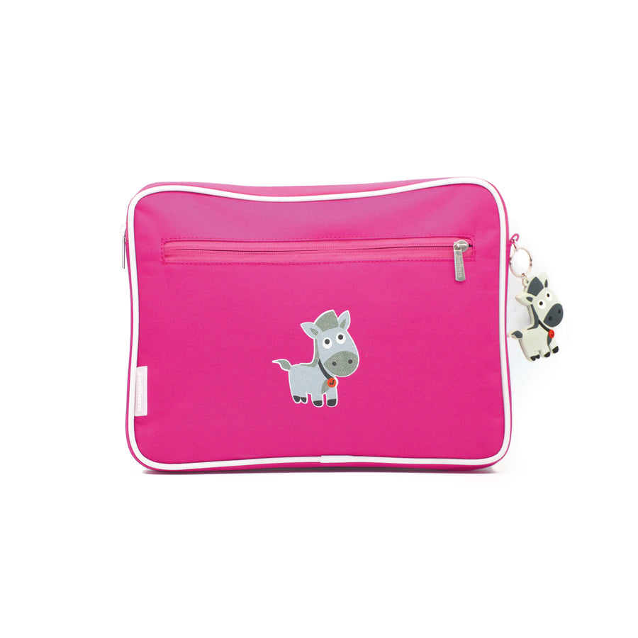 Pencil case | ipad case - horse - magenta - Jordbarn