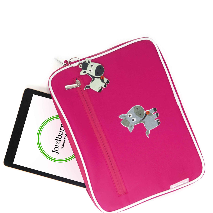 Pencil case | ipad case - monkey - magenta - Jordbarn