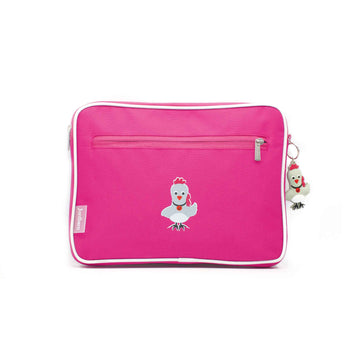 Pencil case | ipad case - rooster - magenta - Jordbarn