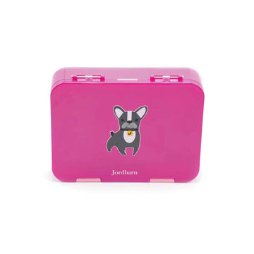Bento lunch box - dog - magenta - Jordbarn