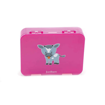 Bento lunch box - goat - magenta - Jordbarn