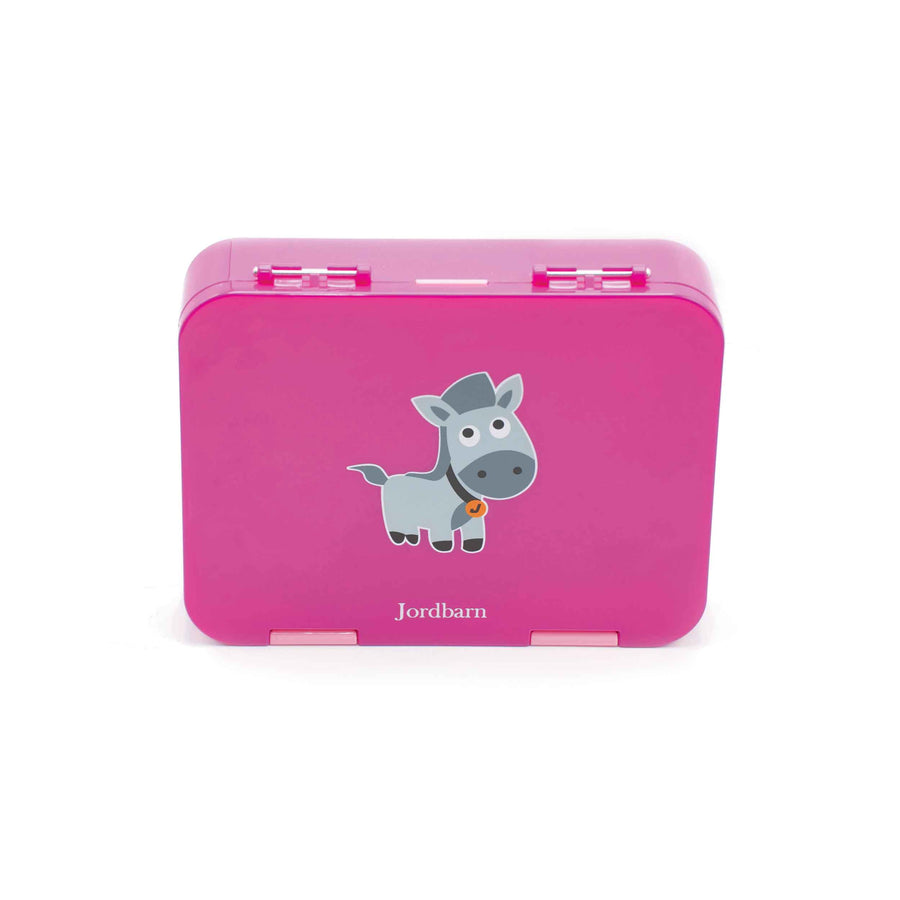 Bento lunch box - horse - magenta - Jordbarn