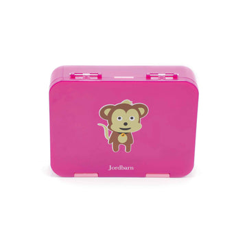 Bento lunch box - monkey - magenta - Jordbarn