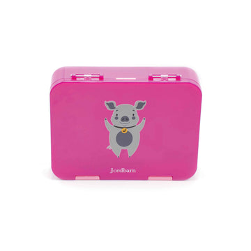Bento lunch box - pig - magenta - Jordbarn