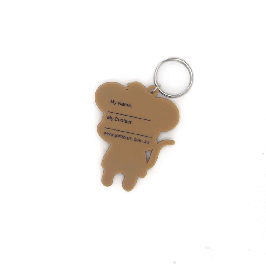 Key ring Name Tag - monkey - Jordbarn
